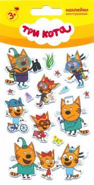"""Набор многоразовых наклеек """"Три кота 2"""""""