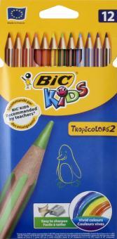 """Карандаши цветные пластиковые """"Тропикулер-2"""" (12 цветов) (832566)"""