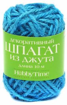 Шпагат джутовый декоративный, длина 10 м, цветной, 6 цветов, (2-509/02)