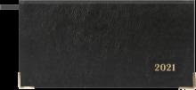 """Еженедельник датированный на 2021 год """"Сариф, черный"""" (64 листа, 170x88 мм, линия) (52370)"""