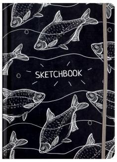 """Скетчбук """"Белые рыбы"""", А5"""