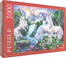 """Puzzle-1000 """"ЕДИНОРОГИ И ЗАМОК"""" (Ф1000-7651)"""