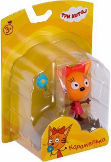 Фигурка пластиковая Три кота Карамелька, подвижная