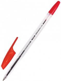 "Ручка шариковая ""Brauberg X-333"" красная (142407)"
