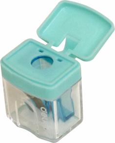 Точилка для карандашей ручная, 1 отверстие, цвет в ассортиенте (E0574)