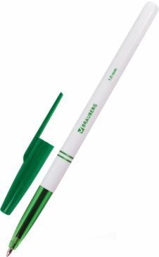 Ручка шариковая офисная, зеленая, 1 мм. (141511)