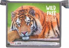 """Папка для тетрадей """"Дикий тигр"""", А5 (ПТ-5991) пластик"""