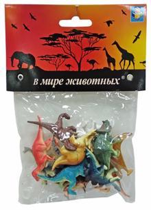 """Игровой набор """"В мире животных. Динозавры"""" (12 предметов)"""