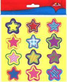 """Наклейки поощрительные для школы и детского сада """"Звездочки"""", 36 шт. (С3364)"""