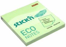 """Блок для записей самоклеящийся """"Eco"""" (100 листов, 76x76 мм, пастельно-зеленый) (21748)"""