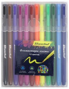 """Фломастеры-кисти """"Цветландия"""" (12 цветов) (877069-12)"""
