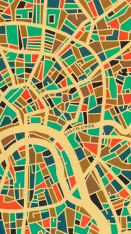 """Ежедневник недатированный 128 листов, 95*170 """"Карта города"""" (ЕЖ18612801)"""