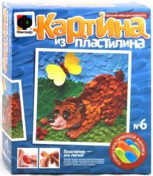 """Картина из пластилина """"Мишка-Лакомка"""" (447006)"""