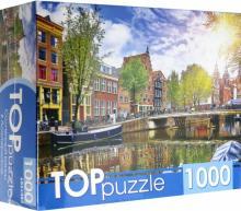 Puzzle-1000. Солнечный канал в Амстердаме (ГИТП1000-4139)