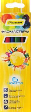 Фломастеры (6 цветов) Солнечная коллекция трехгранные (867225-06)
