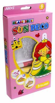 """Набор для творчества с витражными красками 6 цветов и мини-витражами (6 штук) """"Принцесса"""" (22907)"""