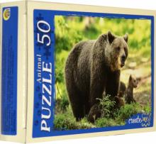 "Puzzle-50 ""Дикие звери"", в ассортименте (П50-5948)"