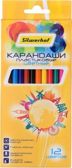 """Карандаши цветные """"Солнечная коллекция"""", 12 цветов, пластик, шестигранные (134215-12)"""