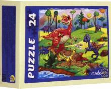 """Puzzle-24 """"Динозавры"""", в ассортименте (П24-9914)"""