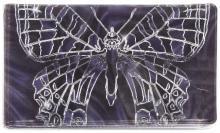 """Визитница """"Серебряная бабочка на фиолетовом фоне"""" (038004виз001)"""