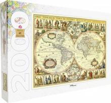 """Puzzle-2000 """"Историческая карта мира"""" (84003)"""