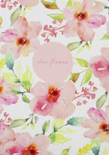 Тетрадь 48 листов, Fleurs, розовый (N1180)