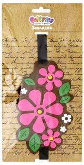 """Закладка из фетра на резинке """"Цветы"""""""