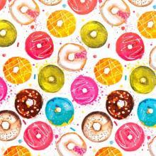 Бумага упаковочная Пончики в глазури (81063)