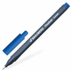 "Линер ""Fineliner"" (синий, 0,4 мм, супертонкий металлический наконечник) (141522)"