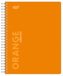 """Тетрадь 96 листов, клетка """"Orange"""" с пластиковой линейкой-разделителем (83317)"""