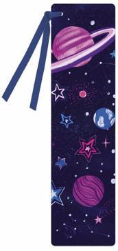 """Закладка для книг """"Космос"""", картонная, с лентой (52272)"""
