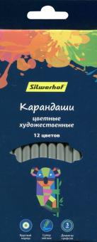 """Карандаши художественные 12 цветов, круглые """"Цветландия"""" (134211-12)"""