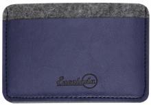 Чехол для пластиковых карт (фетр, 95х67 мм, графитово-синий) (45290)