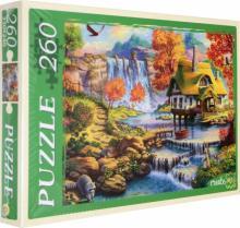 """Puzzle-260 """"Дом у большого водопада"""" (П260-1777)"""