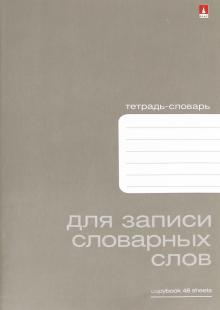 """Тетрадь для записи словарных слов """"Platinum"""" (48 листов, А6) (7-48-419)"""