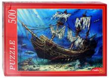 """Puzzle-500 """"Корабль на дне океана"""" (Ф500-8282)"""