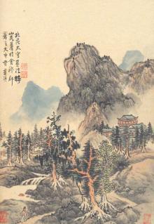 Пейзаж (блокнот 18 листов, А6, нелинованный)