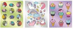 """Обложки для тетрадей с рисунком """"Зверята"""" 3 штуки (51141)"""