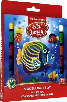 """Пластилин классический """"ArtBerry"""" с Алоэ Вера (12 цветов) (46159)"""
