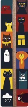 """Закладка для книг с резинкой """"Кото-Микс"""", картонная (52148)"""