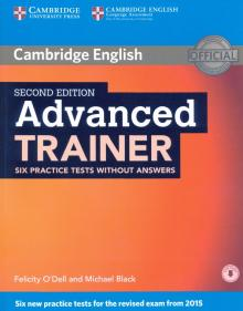 Advanced Trainer Six Practice Tests without Answers with Audio - O`Dell, Black