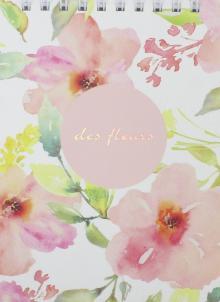 """Блокнот """"Fleurs"""" (100 листов, клетка, А6, спираль) (N1240)"""