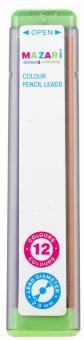 Цветные грифели для автоматических карандашей, 12 цветов (М-7915)