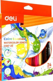 Карандаши 24 цвета акварельные Color Emotion липа (EC00720)